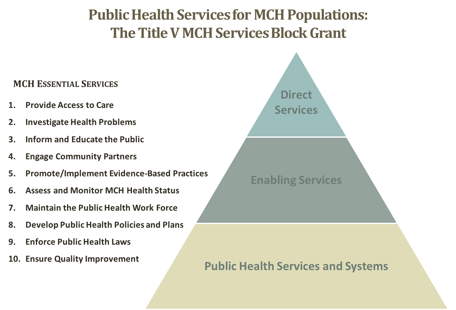 Public Health Services for MCH Populations